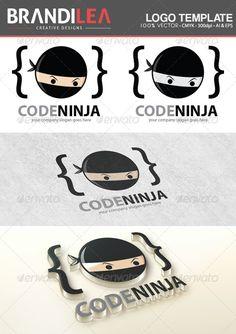 Code Ninja — Vector EPS #bracket #beige • Available here → https://graphicriver.net/item/code-ninja/6069916?ref=pxcr