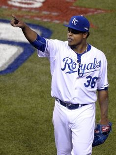 Edinson Volquez was dealing last night, in the ALCS, Game 1 against the Jay's!!