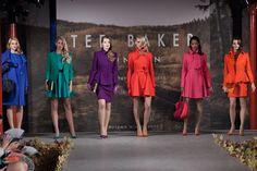 Kleur aanwezig op de Ted Baker #AW13 runway. #TedBaker #catwalkshow