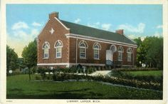 Lapeer Public Library.  The Library in my home town, Lapeer, Michigan.  Found in the Digital Public Library of America, that just had its beta launch today!