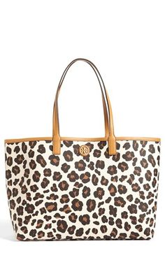 Tory Burch 'Kerrington' Shopper available at #Nordstrom   Bag fetish meets my leopard obsession