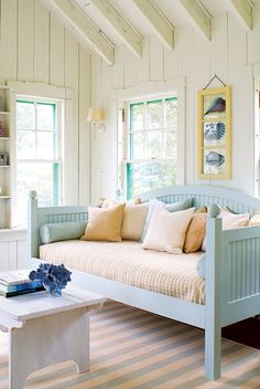 """Find Your Maine Style Make any home feel like a beach cottage brimming with coastal charm. Read more in our April 2014 feature, """"Find Your Maine Style."""" Photo by James R. Beach Cottage Style, Beach Cottage Decor, Coastal Cottage, Coastal Style, Coastal Decor, Cottage Living, Coastal Entryway, Cottage House, Coastal Homes"""