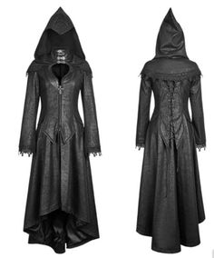 Gothic Punk Rave Mantel Hood Kapuze Steampunk Halloween Angel Kunst Leder y676 in Kleidung & Accessoires, Damenmode, Jacken & Mäntel | eBay