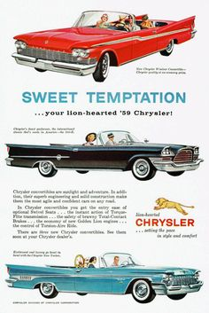 #1959#advertising#car#chrysler