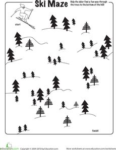Celebrate the Winter Olympics with this collection of worksheets and activities. From Olympics history and winter sport math to DIY medals and ring cookies you'll find everything you need to get into the spirit of the Games! Motor Activities, Kindergarten Activities, Winter Activities, Maze Worksheet, Worksheets, Sport Craft, Educational Games, Winter Olympics, Winter Sports