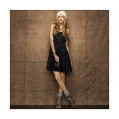 Jordanne Plaid Dress ($200) found on Polyvore