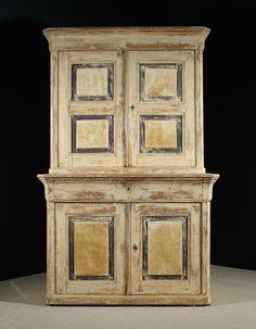 Housekeepers Cupboard Pine In Original Paint - Antiques Atlas