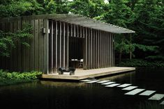 ART HOUSE Len and Louise Riggio worked with architect Richard Gluckman on this Noguchi-inspired teahouse from which they can view sculptures by the artist in the garden of their 13-acre Long Island estate.