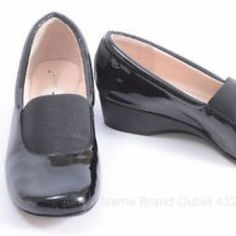 Patent Wedge Loafers by Taryn Rose If you have worn her shoes before, you know how incredibly comfortable they are! Excellent quality and very gently worn, like new!          Product details: MADE WITH LEATHER AND RUBBER SOLE.THE WEDGE IS MATTE BLACK LEATHER. THE LEATHER INSOLE AND SHOE EDGE ARE CUSHIONED FOR EXTREME COMFORT. 2 1/2 INCH BLACK ELASTIC ACROSS VAMP FOR COMFORT AND STYLE INSOLE MEASURES (FROM TOE TO BACK OF HEEL): 10 1/2 INCHES HEEL HEIGHT: 1 1/4 INCHES. Taryn Rose Shoes Flats…
