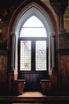 Window in Solingen Castle, Germany.