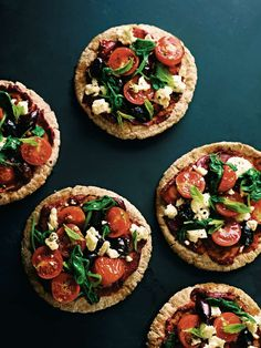 Greek pitta pizza from Dale Pinnock's The Medicinal Chef. Find it on Cooked.com.
