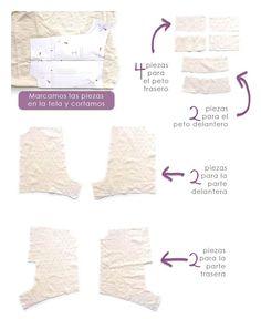 Cómo hacer un pelele de bebé -Patrón incluido
