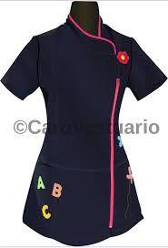 Resultado de imagen para delantales para educadoras diferenciales Maid Uniform, Scrub Tops, Work Attire, Scrubs, Wetsuit, Cool Designs, Mosaic Pots, Clothes For Women, Sewing
