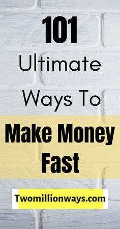 There are lots of ways to make money fast presented in the market which avail the best methods. Also, it's good if you are looking for ways to make money from home. How To Get Money Fast, Earn More Money, Earn Money Online, Make Money From Home, Extra Money Jobs, Get Paid Online, Money Problems, Financial Budget, Fun At Work
