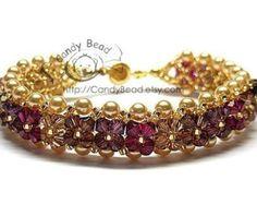 Bracciale braccialetto di cristallo di Swarovski da CandyBead