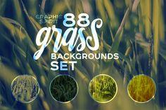 88 HD Grass Backgrounds Set | Design Bundles