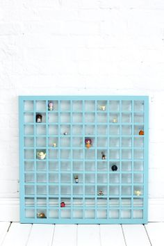 Shop | Storage | Timber Pigeon Hole Wall Hangings | Timber Pigeon Hole Wall Hanging Aqua 80 CM