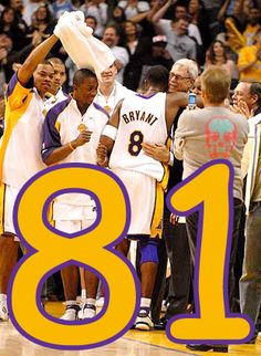 Kobe Bryant scores 81 points in one game.