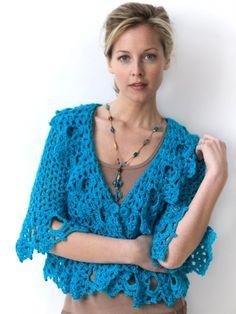 Lacy Jacket   Yarn   Free Knitting Patterns   Crochet Patterns   Yarnspirations