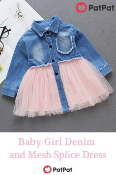 Stylish and comfortable~ Your baby should have one~ Baby Dress Design, Baby Girl Dress Patterns, Baby Frocks Designs, Kids Frocks Design, Kids Dress Wear, Little Girl Dresses, Baby Girl Fashion, Kids Fashion, Trendy Baby Clothes