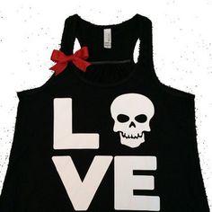 Ruffles with Love- Love Skull Tank #gymwear - $26.00