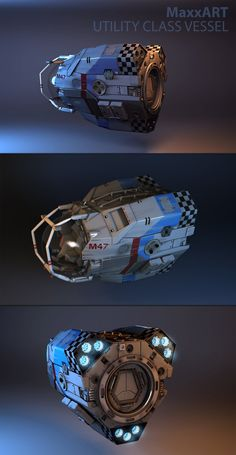 "Utility class Spaceship inspired from PC game ""Independence War 2 - Edge of Chaos"" Length: Mass: Crew: : 1 Maneuverability: Medium Offensive Systems: None Defensive Systems: None Drive Systems: Micro Thrust Array Spaceship Interior, Spaceship Art, Spaceship Concept, Spaceship Design, Concept Ships, Concept Cars, Sci Fi Spaceships, Space Battles, Prop Design"