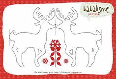 Reindeer Garland cut like paper dolls. #Garland #Banner #Reindeer