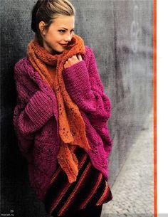 crochelinhasagulhas: Casaco rosa em crochê