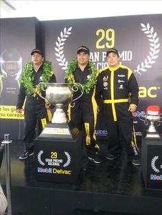 Ganadores, 29 Gran Premio Nacional Mobil Delvac. Categoría pesados:  1. José Daniel Puerto, de Duitama, 2.  Juan Carlos Galindo,Duitama y, 3. Dagoberto Cuervo.