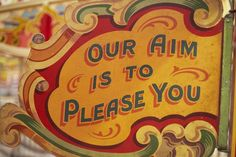 Fairground Art ,from the 1940's painted ticket(sign)