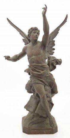 Fiat Lux, Demon Tattoo, Mercier, Angels And Demons, Renaissance Art, Bronze Sculpture, Art Paintings, Olympus, Sleeve Tattoos