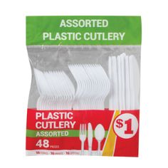 Family Dollar Plastic Cutlery Assorted 48ct