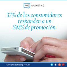 #SabiasQue 32% de los consumidores responden a un SMS de promocion.