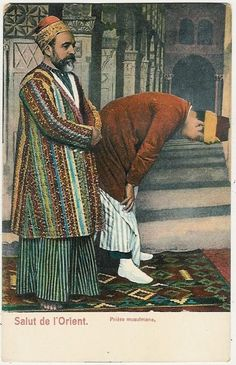 Turkey, Constantinople, Praying Muslims www.picclick.com