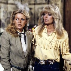 Farrah Fawcett and Cheryl Ladd as Jill and Chris Munroe on Charlie's Angels