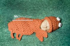 Coral Crab Cuddle Critter Cape Set   Newborn by calleighsclips, $35.00