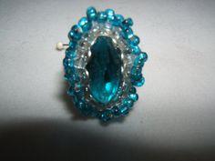Turquoise Ruffle Ring