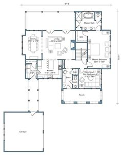 Looking for the best house plans? Check out the Flat Rock Cottage plan from Southern Living. Small House Floor Plans, Best House Plans, Dream House Plans, Mountain House Plans, Ranch House Plans, Cottage Plan, Cozy Cottage, Self Leveling Floor, I Love House