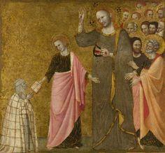 Francesco da Rimini (Master della Beata Chiara) - La visione della Beata Chiara di Rimini - circa 1333-1340 - National Gallery, London