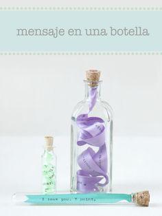 Mensaje en una botella: nuestro primer post en el blog de Crafty Box #diy #manualidades