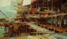 theoprins:  Kite City - concept art for Guild Wars 2