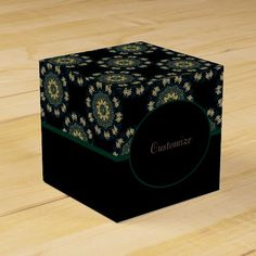 Shop Chic Gold & Green Asian Style Cube 2 Favor Box created by BlueRose_Design. Japanese Party, Favor Boxes, Asian Style, Colorful Backgrounds, Classic Style, Cube, Favors, Birthdays, Green