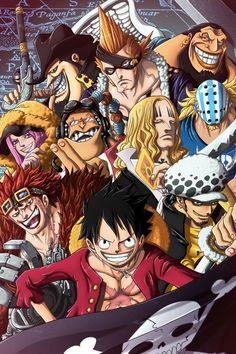 10 Out Of The 11 Super Novas/Capone, X Drake,Urouge,Jewelry Bonney,Apoo,Hawkins,Killer, Kidd,Law,Luffy/One piece