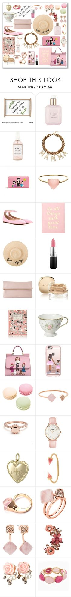 """Mother's Day pink"" by seventeene ❤ liked on Polyvore featuring Ted Baker, Herbivore Botanicals, Dolce&Gabbana, Orelia, Gianvito Rossi, MAC Cosmetics, Whistles, Olympia Le-Tan, Casetify and Ladurée"