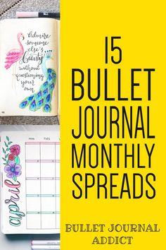 Bullet Journal Monthly Spreads - Monthly Layouts For Bullet Journals - Creative Bullet Journal Monthly Theme Ideas #bujo #bujolove #bulletjournal #monthlyspreads #spreads #bujospreads #bujomonthly