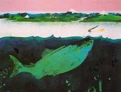 Don Weller - Advertising illustration (fish), Flying Tiger Airlines.