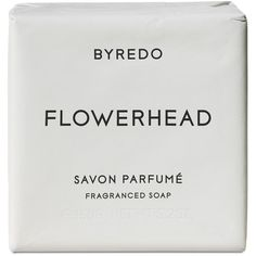 Byredo Parfums Flowerhead Fragrance Bar Soap 150g ($24) ❤ liked on Polyvore featuring beauty products, bath & body products, body cleansers, fillers, beauty, makeup, cosmetics, white fillers and byredo