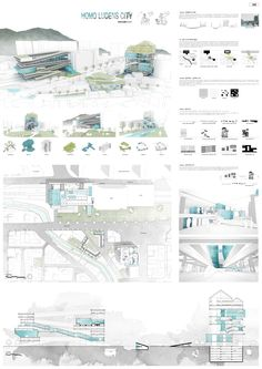 10 Architecture Portfolios for Design Inspiration Architecture Panel, Architecture Graphics, Green Architecture, Architecture Portfolio, Concept Architecture, Architecture Design, Presentation Board Design, Architecture Presentation Board, Modelos 3d