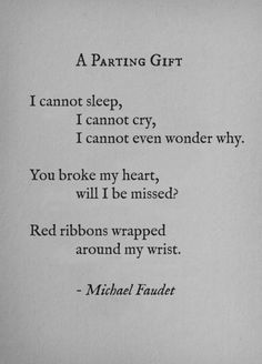 michaelfaudet:  A Parting Gift by Michael Faudet