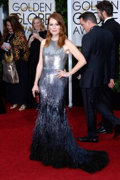 All of the chicest red carpet arrivals from the Golden Globes: Julianne Moore